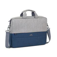 RivaCase Brašna na notebook 15,6″ 7532-GR/DBU, šedá/modrá