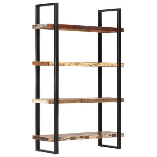 shumee Knjižna omara 4-nadstropna 120x40x180 cm trden predelan les