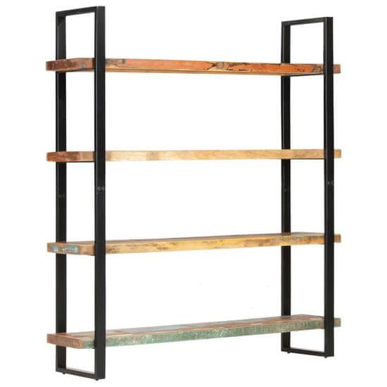 shumee Knjižna omara 4-nadstropna 160x40x180 cm trden predelan les
