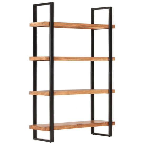 shumee Knjižna omara 4-nadstropna 120x40x180 cm trden akacijev les