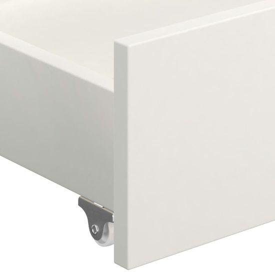 shumee Posteľný rám, baldachýn, 2 zásuvky, biely, borovica 180x200 cm