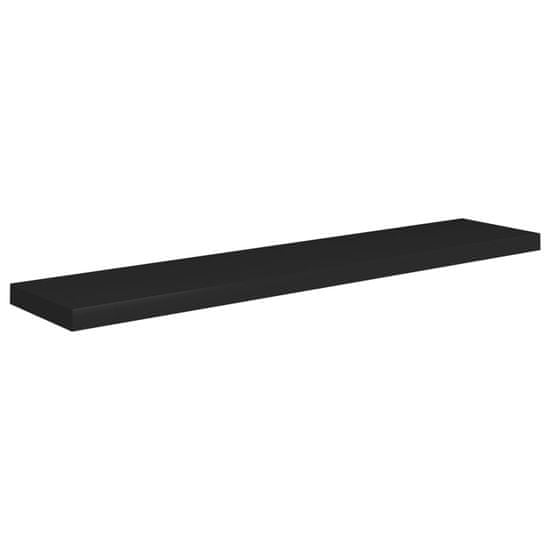 shumee Stenske police 4 kosi črne 120x23,5x3,8 cm MDF
