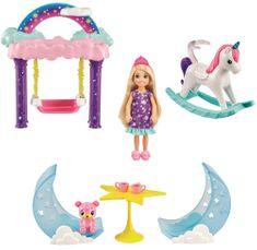 Mattel Barbie Chelsea z gugalnim konjem Igralni komplet