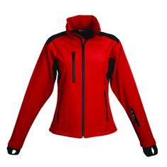 Schwarzwolf BREVA bunda dámská červená logo vzadu