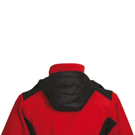Schwarzwolf SCHWARZWOLF BREVA bunda dámská červená logo vzadu