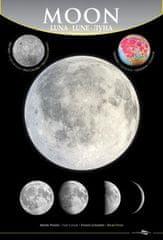 mapcards.net 3D Mini portrét - Mesiac (Moon, Luna)