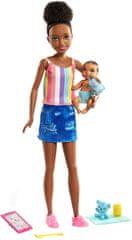 Mattel Barbie Varuška v majici z naramnicami z dojenčkom