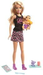 Mattel Barbie Chůva Blondýnka s miminkem