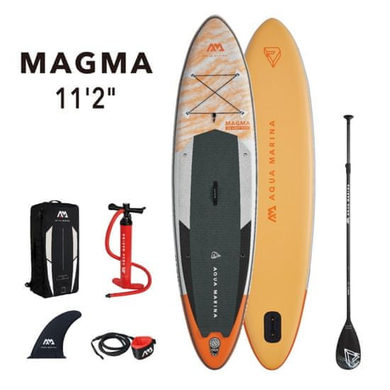 Aqua Marina BT-21MAP Magma napihlijv SUP, z veslom in varnostno vrvico, 3,4 m, 15 cm