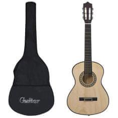 """shumee 1/2-es klasszikus gitár kezdőknek és gyereknek tokkal 34"""""""