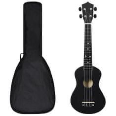 """Greatstore Set soprano ukulele s obalem pro děti černé 23"""""""