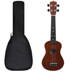 """Greatstore Set soprano ukulele s obalem pro děti tmavé dřevo 23"""""""