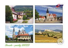 tvorme pohľadnica Slovensko - pamiatky UNESCO 01 (postcrossing)