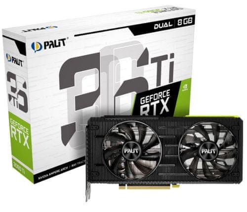PALiT Dual GeForce RTX 3060 Ti grafična kartica, 8 GB GDDR6 | mimovrste=)