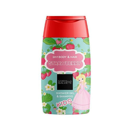 Gabriella Salvete Sprchový gel pro děti 2 v 1 Strawberry (Shower Gel Kids 2in1 Body & Hair) 300 ml