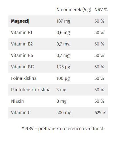 Nature's finest Guarana & Magnesium & B-complex & Vitamin C Drink Mix napitek, 150 g