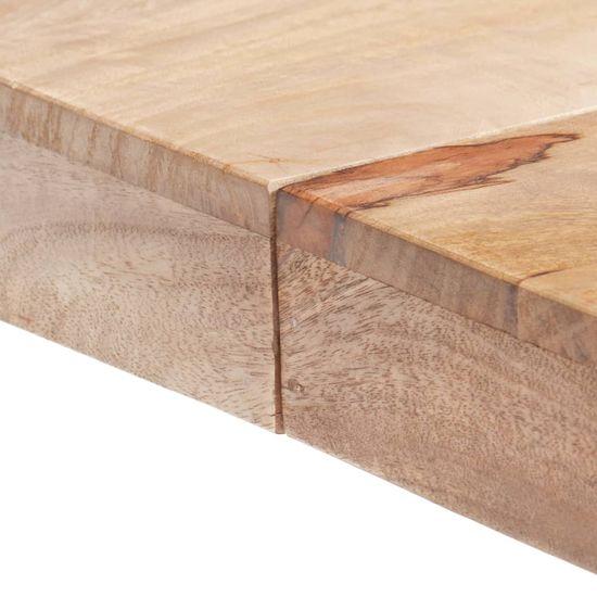 shumee Jedálenský stôl 120x120x77 cm mangovníkový masív