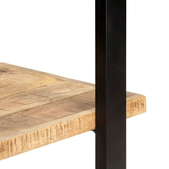 shumee Knjižna omara 4-nadstropna 80x40x180 cm robusten mangov les