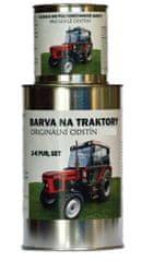 BARVY NA TRAKTORY JOHN DEER, originálne 2-K PUR farby, SET s tužidlom lesk, ČIERNA MATNÁ, 1,25kg SET