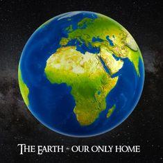 mapcards.net 3D štvorec The Earth - Our only home