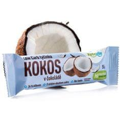 KetoLife Low Carb tyčinka - Kokos v čokoláde 55 g