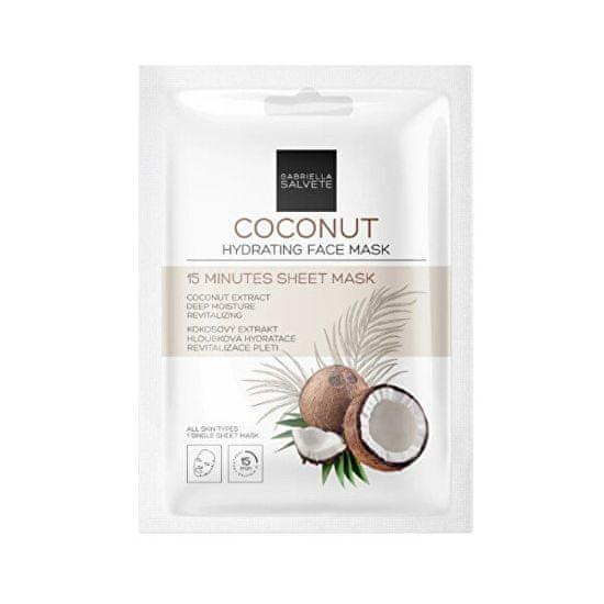 Gabriella Salvete Hydratační pleťová plátýnková maska Coconut (Hydrating Sheet Face Mask) 1 ks