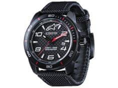 Alpinestars hodinky TECH WATCH (černé, textilní pásek vč. rezervního koženého pásku)