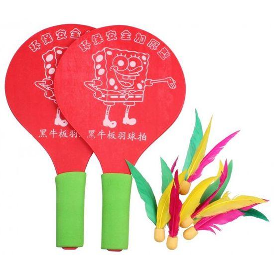 Merco Battledor reket za badminton, drveni, crveni