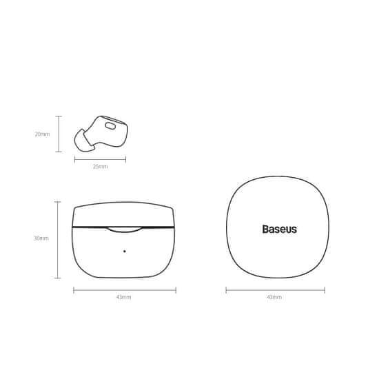 BASEUS Encok WM01 TWS BT Slušalke V5.0