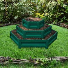 Primaterra Vyvýšený záhon třípatrový zelený