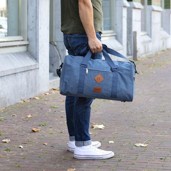 TRAVEL Z Taška Hipster Travelbag Jeans Blue