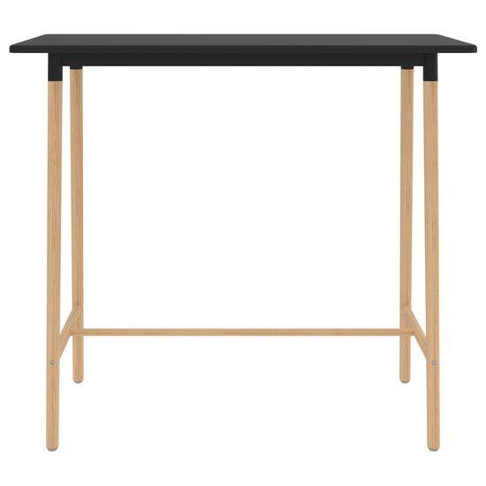 shumee fekete MDF és tömör bükkfa bárasztal 120 x 60 x 105 cm