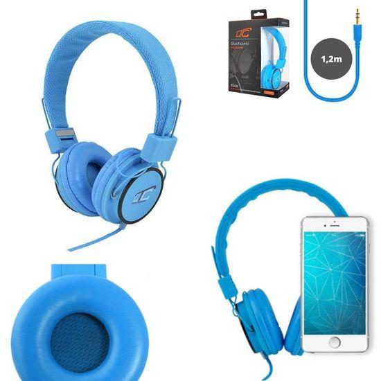 LTC Slušalke naglavne 3,5mm modre 1,2m