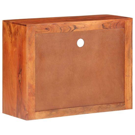shumee tömör akácfa tálalószekrény 80 x 30 x 60 cm