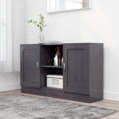 shumee Komoda, lesklá sivá 120x30,5x70 cm, drevotrieska
