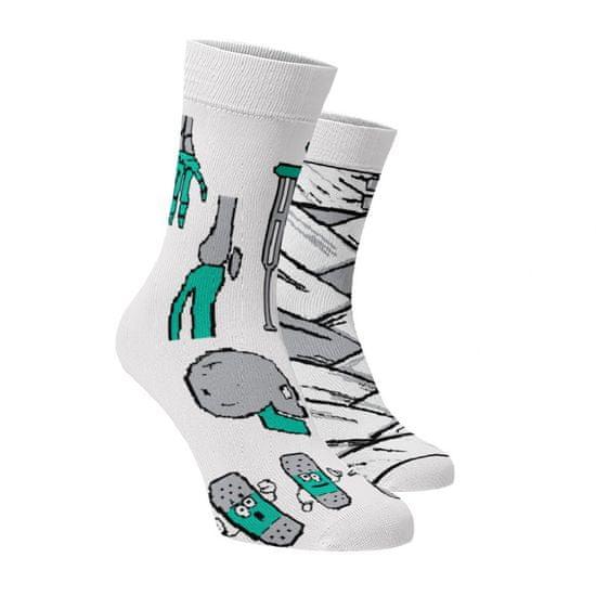 BENAMI Veselé ponožky Zdravotnické Bílá 35-38