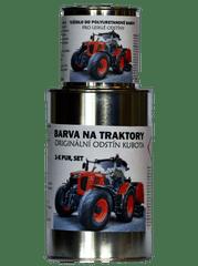 BARVY NA TRAKTORY KUBOTA, originálne 2-K PUR farby, SET s tužidlom lesk, ORANŽOVÁ, 1,25kg SET