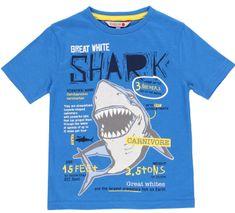 Boboli chlapecké tričko se žralokem 592040 104 modrá