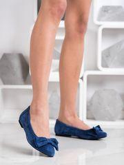 Női balerina cipő 69166, kék árnyalat, 37