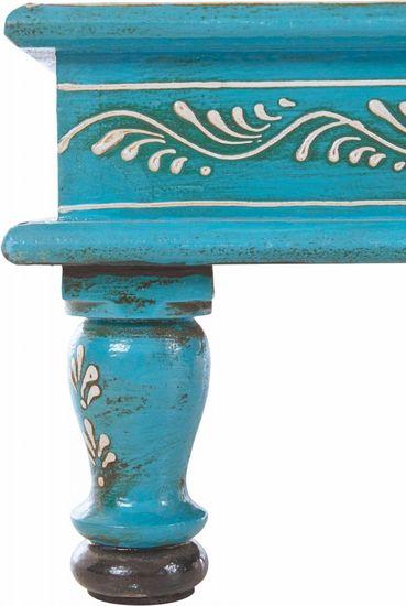 Danish Style Konferenčný stolík Sara, 40 cm, modrá