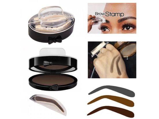 Alum online Make-up pečiatka na obočie so zrkadielkom - hnedé