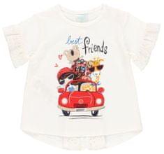 Boboli dívčí designové tričko 232029 68 smetanová