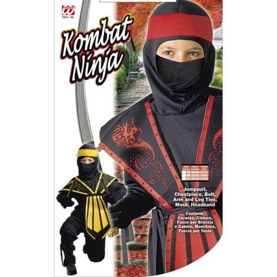 Widmann Pustni Kostum Kombat Ninja Rdeč