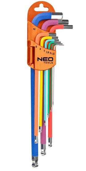 NEO Tools komplet imbus ključeva, 9-dijelni, u boji (09-512)