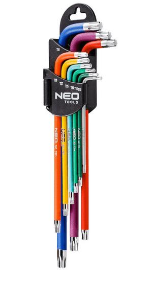 NEO Tools komplet torx ključeva, 9-dijelni, u boji (09-518)