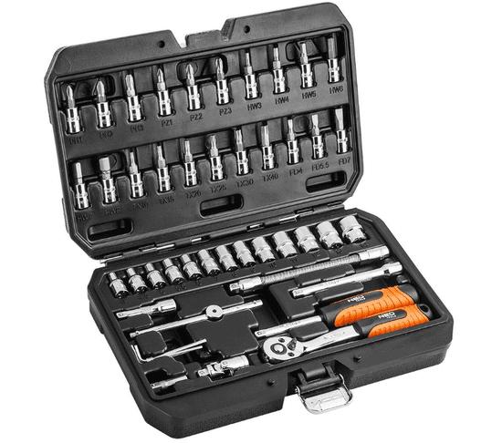 NEO Tools 46-dijelni set alata, 1/4 (08-660)