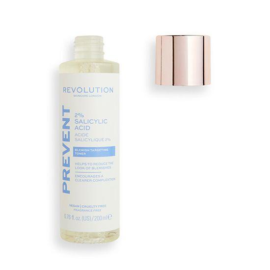Revolution Skincare Vlažilni tonik za kožo 2% salicilna kislina (Blemish Targeting Toner) 200 ml