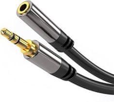 PremiumCord HQ tienený predlžovací kábel Jack 3,5 mm - Jack 3,5 mm M / F 3 m kjqmf3