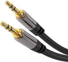 PremiumCord HQ tienený predlžovací kábel Jack 3,5 mm - Jack 3,5 mm M / M 1,5 m kjqmm015
