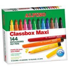 Alpino Veľké balenie 144 farebných fixiek Maxi